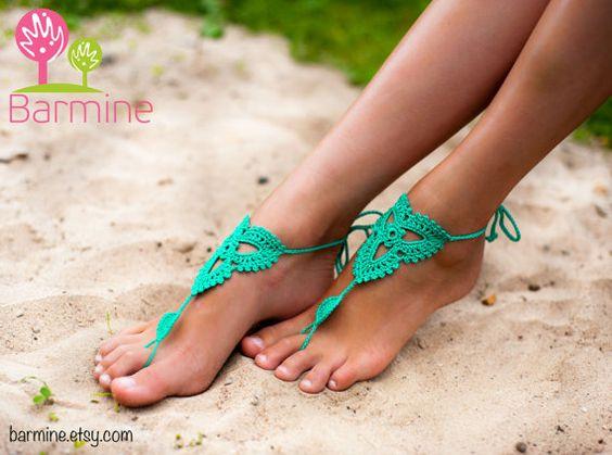 la menthe sandals emerald au crochet pieds nus sandales aux pieds nus sandales aux pieds nus. Black Bedroom Furniture Sets. Home Design Ideas