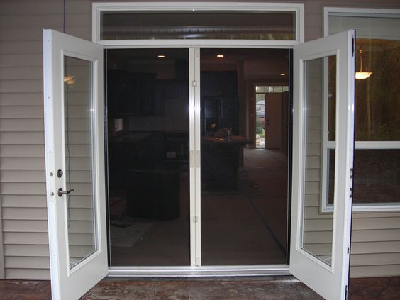 Nice Holland Screens    Outward Opening French Doors With Retracting Double  Screens
