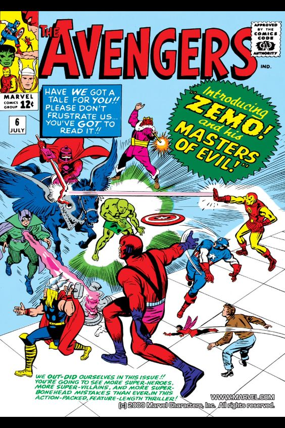 The Avengers #6 first appearance of the Masters of Evil ...