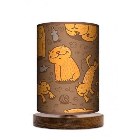 Fotolampa stojąca mała - Cat_orzech www.fotolampy.pl