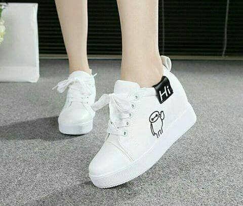 Fids105 Sepatu Wanita Sepatu Kets Hitam Polos Bmg Sepatu Kets
