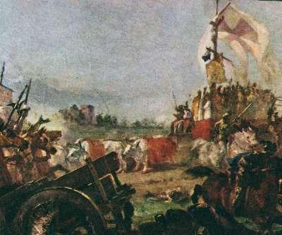 Cassioli, Amos, (1832-1891), Il Carroccio di Legnano