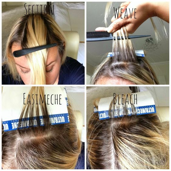 Foiling highlights hair color pinterest hair coloring diy how to highlight your own hair home highlighting home highlighting before and after pmusecretfo Images