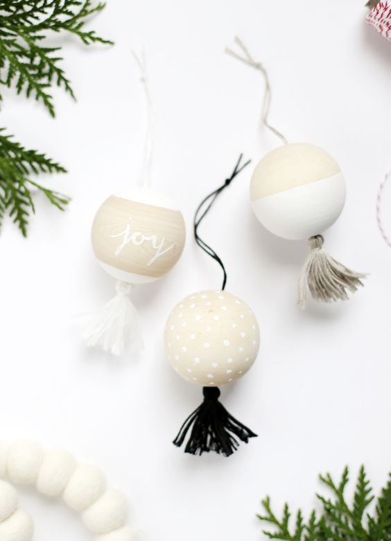 DIY Wooden Tassel Ornaments by The Merrythought for The Holiday Collective: