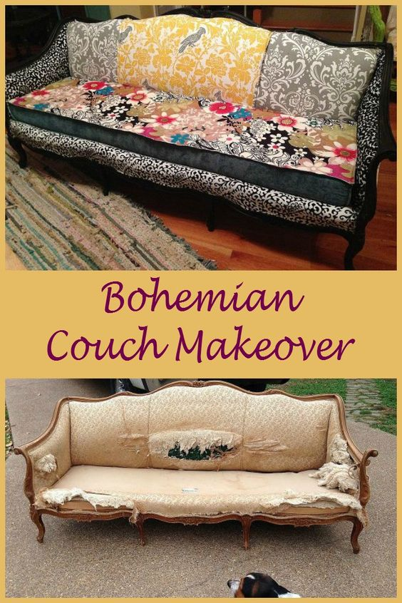 From dumpster to living room ~ fabulous Bohemian Couch