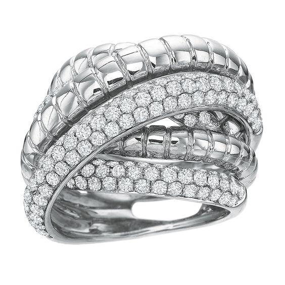 #Reserve 18K #WhiteGold & #Diamond Crossover #Ring