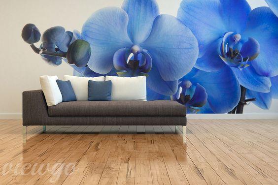 Niebieski-storczyk-do-salonu-fototapety
