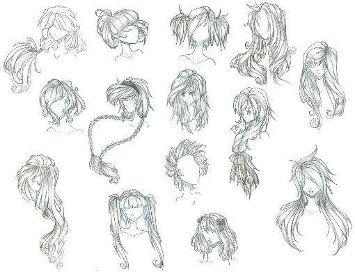 Anime Girl Hair Design.