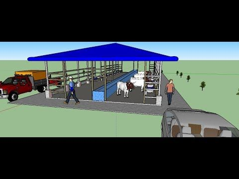 How To Make Cow Dairy Farm 30x10m In Sketchup Youtube Dairy