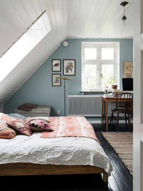 45 Delightful Wooden Accent Wall Design Ideas For Modern Bedroom In 2020 Attic Bedroom Decor Attic Bedroom Designs Bedroom Design