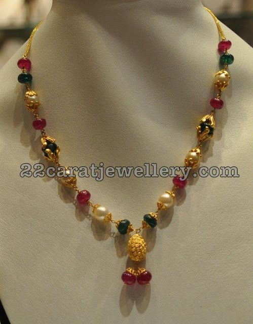 Jewellery designs simple jewellery for kurthis indian for Simple gold ornaments
