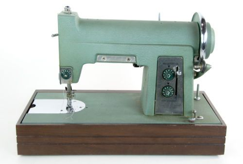 Vintage-White-Rotary-Sewing-Machine-6775-E-6354-Buttonholer-Teal-Retro-Turquoise
