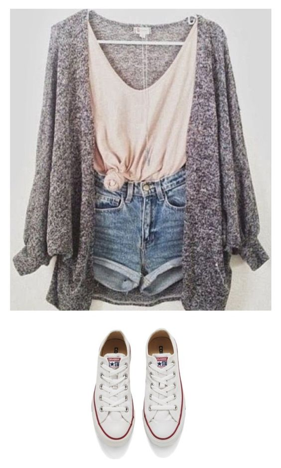 """Cute Outfit Idea"" by fashionlifeforevaaa ❤ liked on Polyvore featuring moda, Converse, women's clothing, women, female, woman, misses y juniors"