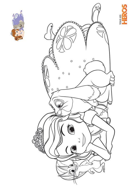 Coloriage sofia la princesse sur tous les h ros coloriage sofia princesse creatif - Coloriag princesse ...