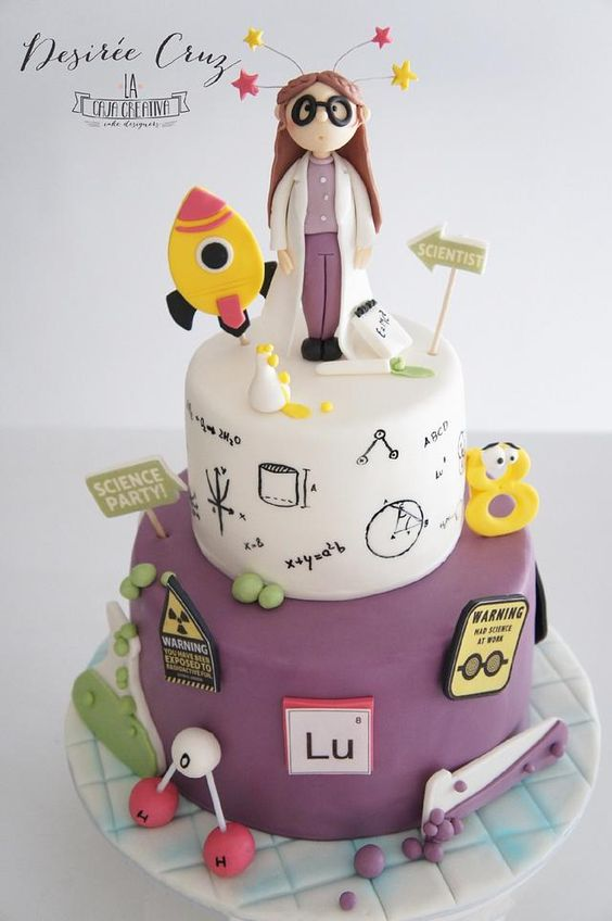 Scientist Cake - cake by La Caja Creativa