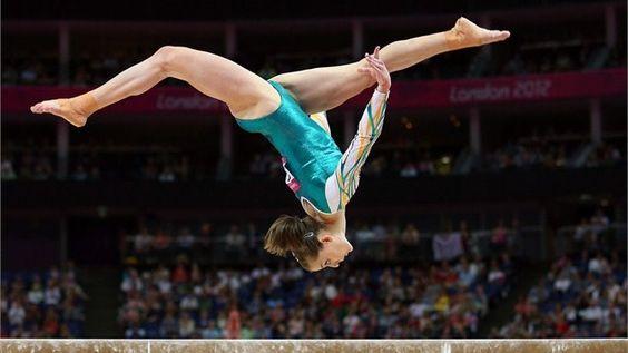 Lauren Mitchell of Australia competes on the beam #Olympics
