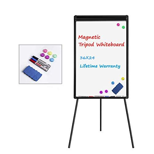 Double Sided Dry Erase Easel W 6 Storage Bins 4 Accessory Hooks White Wood Display Stand Artist Easel Easels For Sale