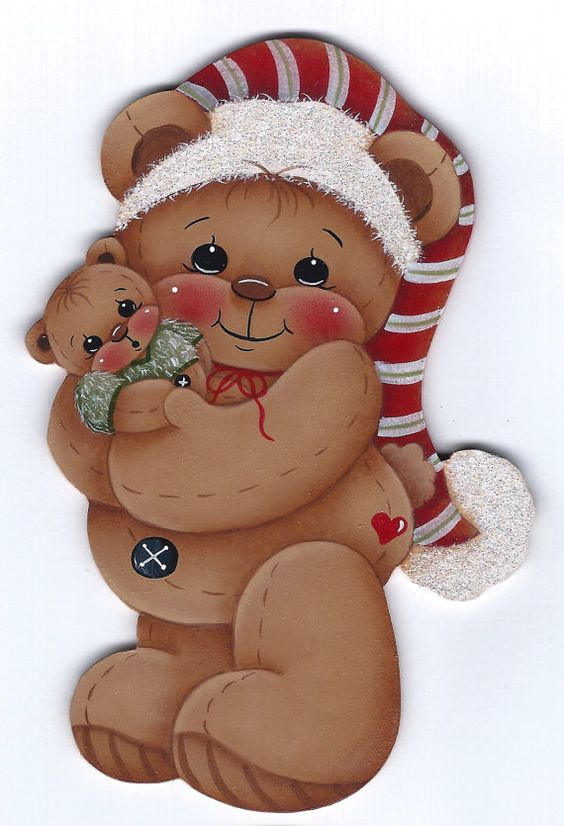 Bear Hugs Teddy Bear Painting E-Pattern por GingerbreadCuties