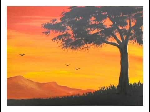 Youtube Con Imagenes Atardeceres Dibujos Pinturas Painting