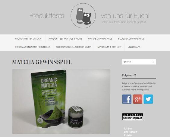 Gewinnt ein Matcha Set von Kiss Me Organics im Wert von über 50 Euro! Bei Produkttests von uns für Euch!könnt ihr noch bis 8. August...