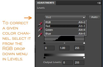 Correct color issues with levels in PSE