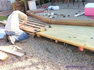 Second Wind of Texas: Our-Under $300 Complete Deck Addition! Outside Improvements pt3