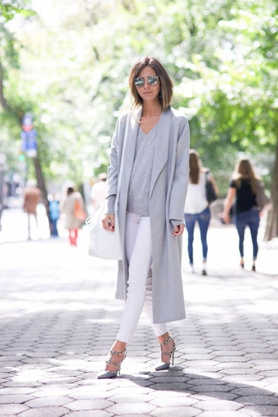 Arielle Nachmani of SomethingNavy wearing The Robe from AYR.