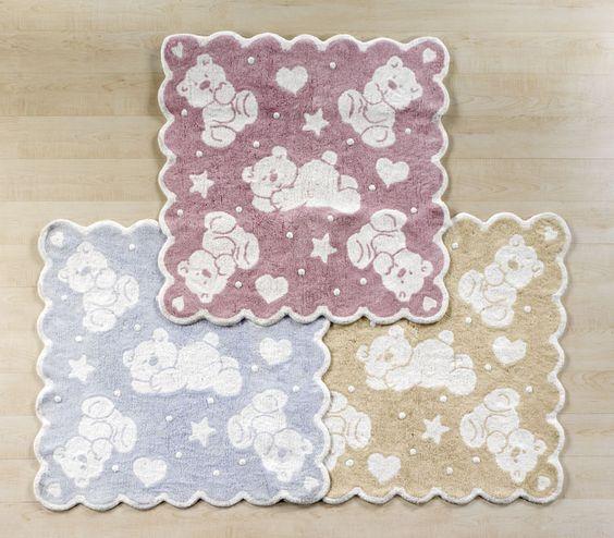 İthal %100 Pamuk Halı (Imported 100% Cotton Carpet) Uçuk tonlarda ve yumuşak dokusu ile sevimli halılar Bebedeko'da.