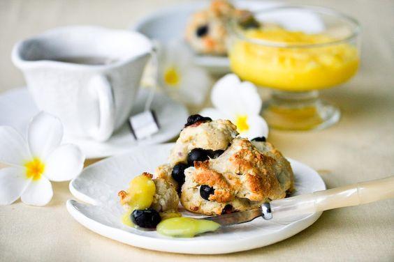 Blueberry Scones with Lemon Glaze Recipe