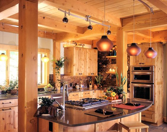 Post and beam kitchens kitchen layout ideas perfect for Barn kitchen ideas