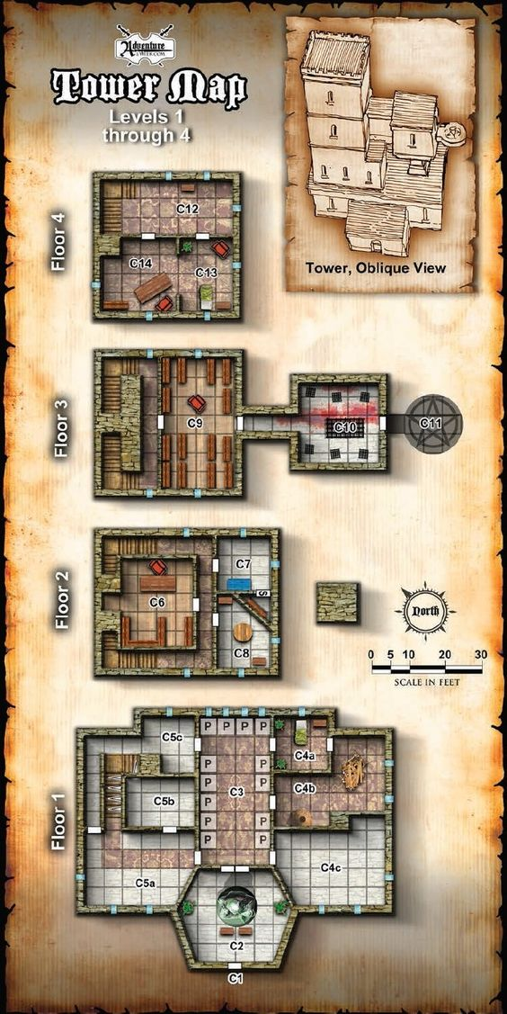 Use this as the tower map for Old Owl Well (Revised) in the new side quests for LMoP.
