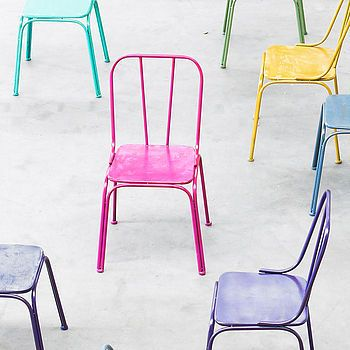 Industrial Metal Coloured Chair