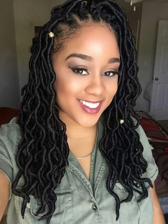 Crochet Goddess Locs Black Hairstyles Pinterest