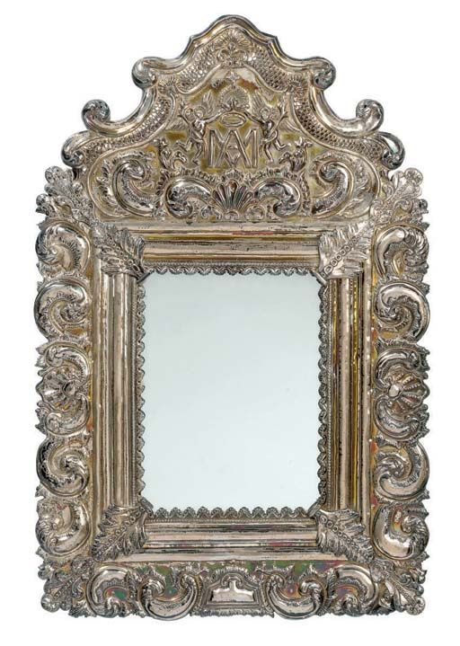 Spanish Colonial Silver Frame Spanish Colonial
