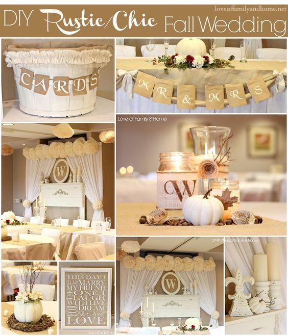 Pinterest Fall Wedding Ideas: Rustic Chic, Fall Wedding And Rustic On Pinterest