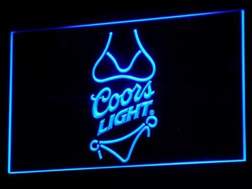 Coors Light Beer Bikini Bar Pub Led Neon Sign Man Cave Donotapply Modern Neon Signs Led Neon Signs Neon Light Signs
