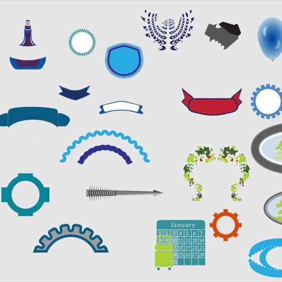 Download Free Vector - Decorative Vectors - Illustrator Icon Vector Set Vector Download