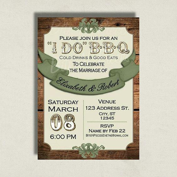 Camo Wedding Ideas Rustic Barn: I Do Barbeque Invitation. Wedding Invitation. Camo Wedding