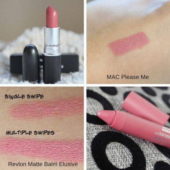 MAC Please Me and Revlon Matte Balm Elusive | MAC Lipstick Dupes | The Ultimate Guide | mac lipstick dupes list | mac lipstick dupes