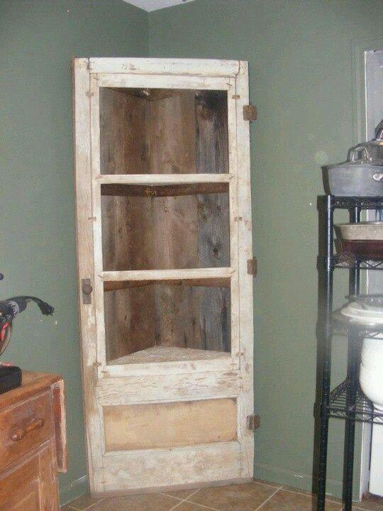 casa muebles puertas antiguas reciclado estantes de la esquina de la puerta gabinetes de esquina gabinete de la esquina de estantera de