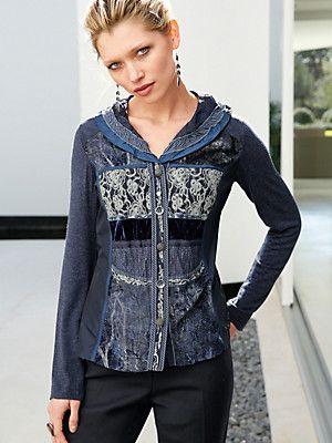 Blusen-Jacke mit Schalkragen