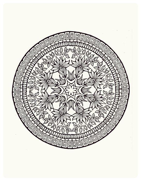 7 das Artes: Lindos gráficos de mandalas.