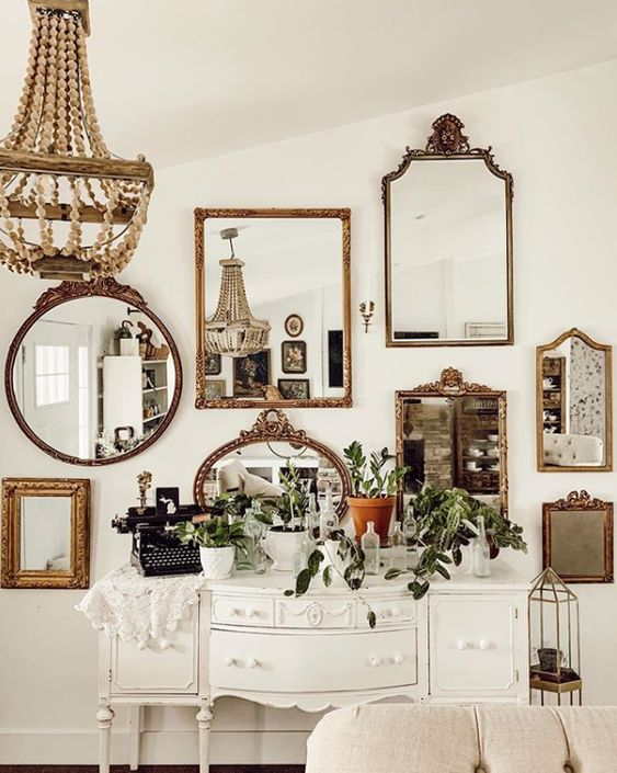 13 Mirrors Gallery Walls Ideas to Copy - Lolly Jane