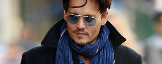 Blue sunglasses and scarf
