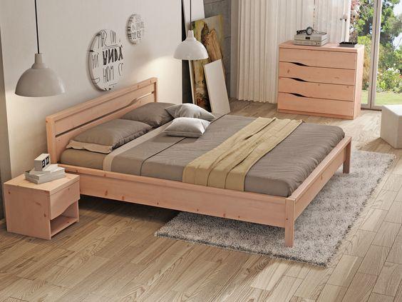 Zirbenschlafzimmer mit Zirbenbett  - designer mobel aus holz skando