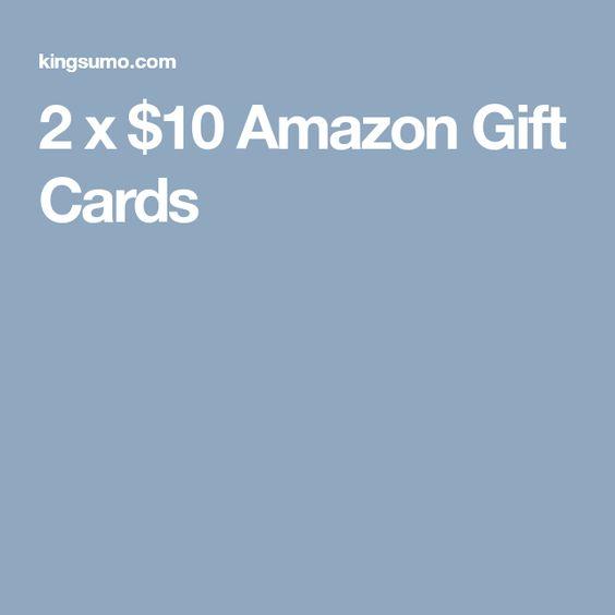 2 X 10 Amazon Gift Cards Amazon Gift Cards Amazon Gifts Gift Card