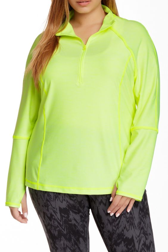 Fast Pace Half Zip Pullover (Plus Size)