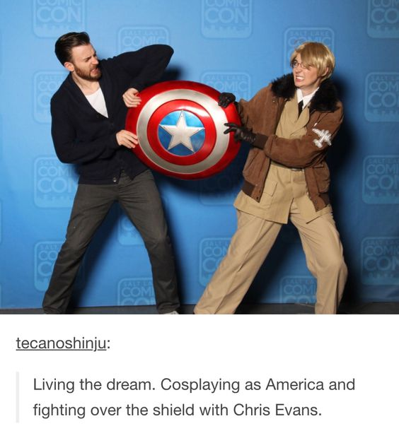 Boi, America is so lucky to meet Captain America XD