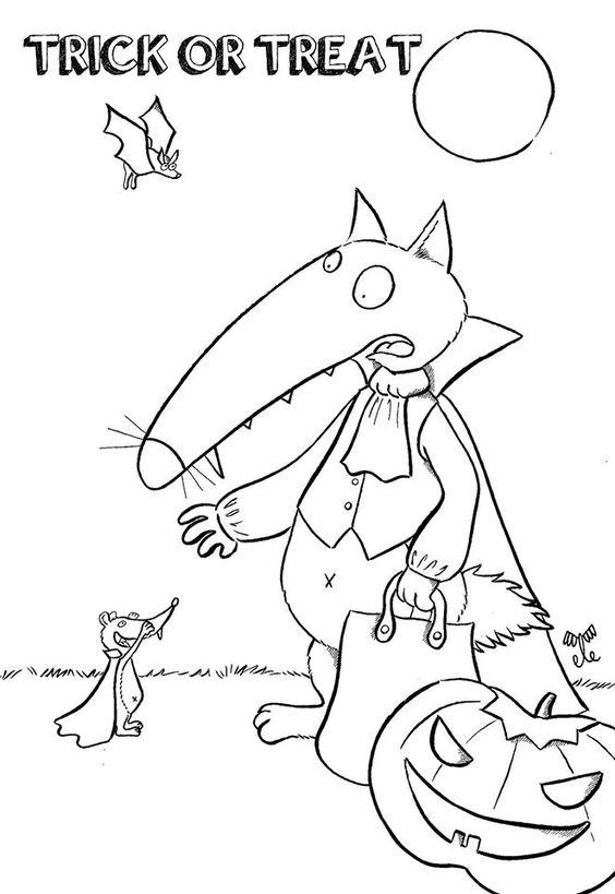 Le coloriage d 39 halloween le loup pinterest halloween - Petit loup dessin ...