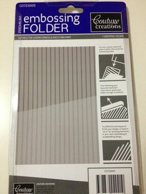 Couture Creations Embossing Folder - Pinstripe